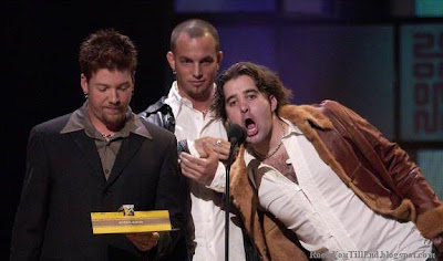 Creed receiving MTV Award