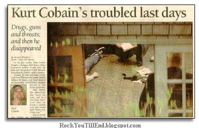 Kurt Cobain suicide News in paper