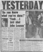 News Of Murder Of Lennon