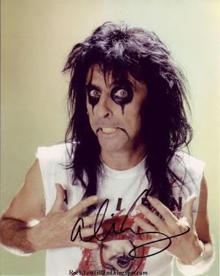 Alice Cooper Autographed Photo