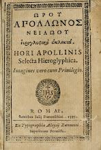 Ejemplar del libro de Horapolo del Nilo. Ultimo sacerdote egipcio.