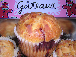 In My's kitchen: THE recette de muffins - Muffins amande, fruits rouges et chocolat blanc