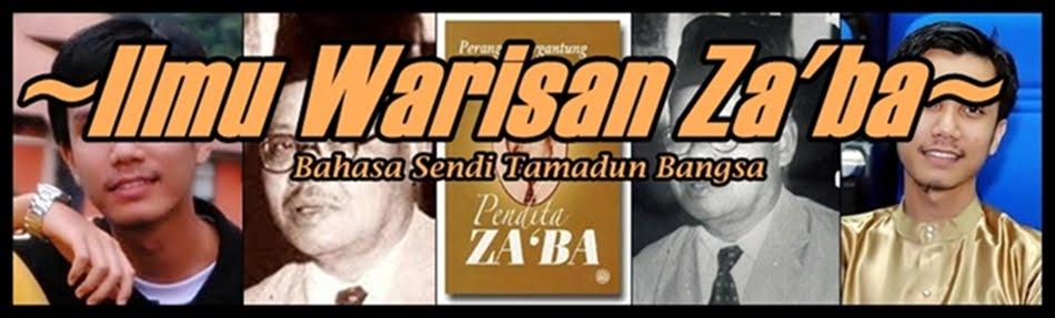 ~~Ilmu Warisan Za'ba~~