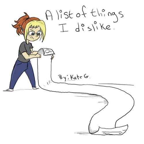 Kiki's List of Dislikes: Now in Comic form!