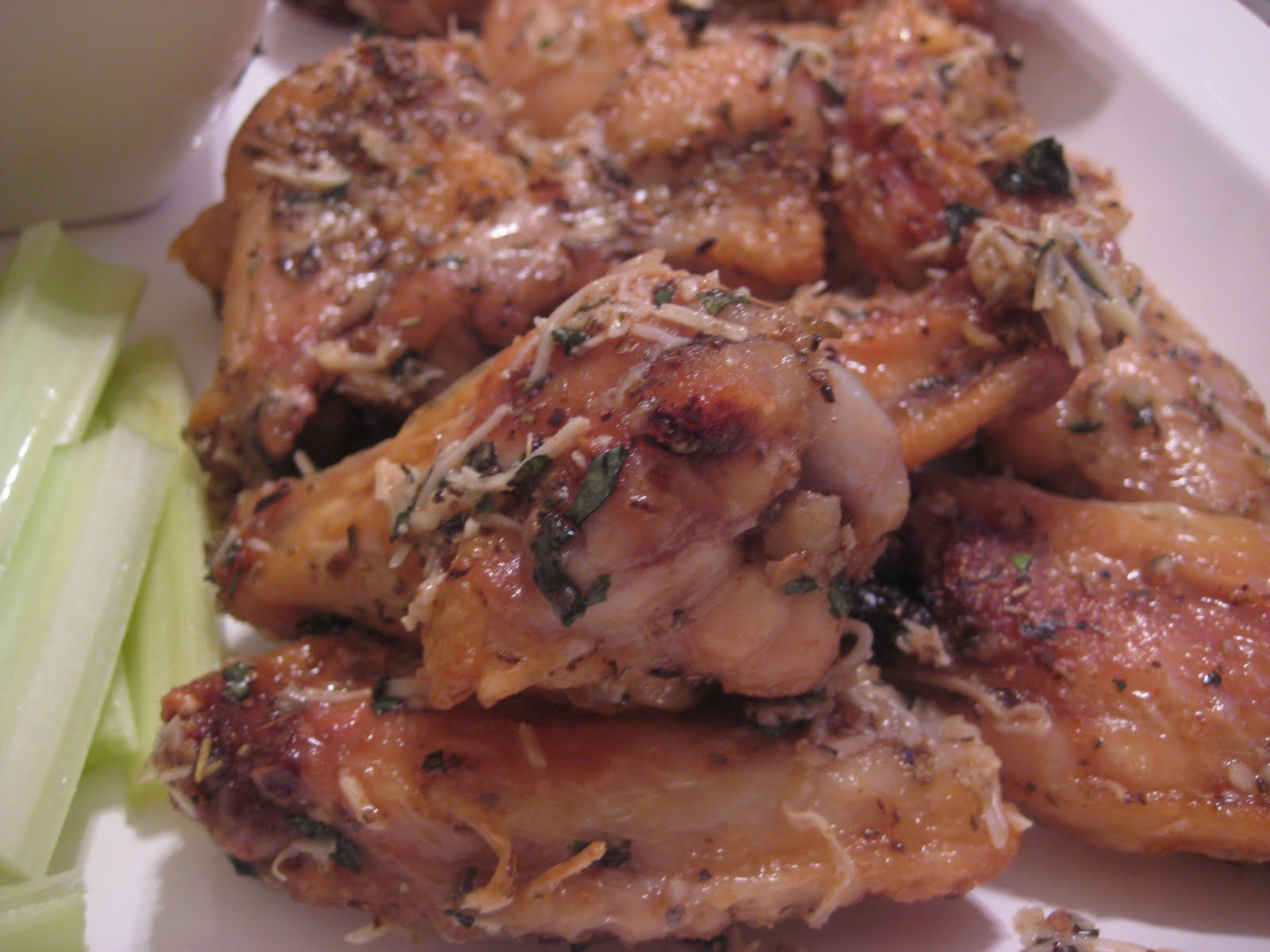 One Couple's Kitchen: Baked Parmesan Garlic Chicken Wings