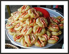 Shrimp cake in West lake