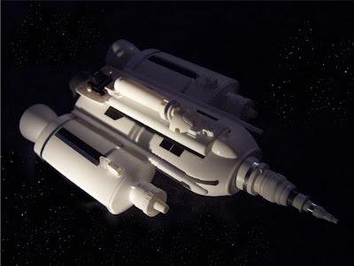 nave espacial hecha con plástico reciclado