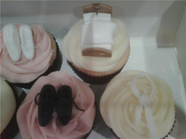 heels suits wedding dress and a miniature bed to top off our cupcakes