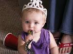 Little Princess...eating a snake!