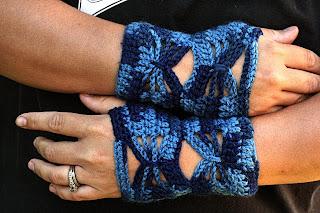 Taming the Butterfly Fingerless Gloves