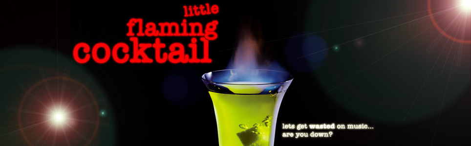 little flaming cocktail
