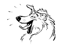 Cartoon collie dog drawing
