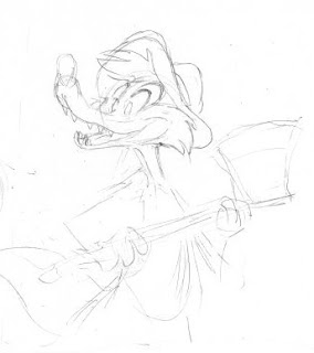Drawing sketch Brer Fox Song of the South Disney