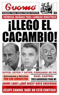 ESTAN CHAPEANDO ---Sustituyen a Lage y Pérez Roque Guama-113o