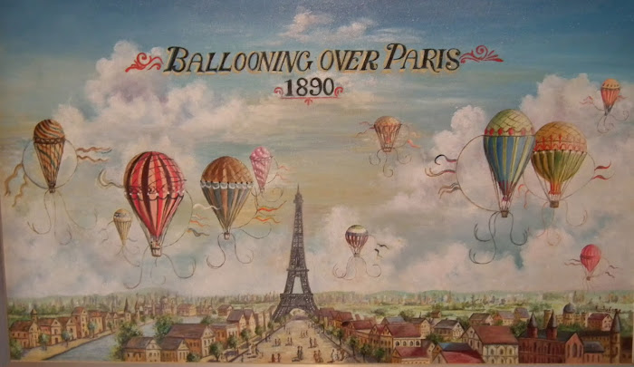 "Copia de lámina ""Ballooning over Paris"""