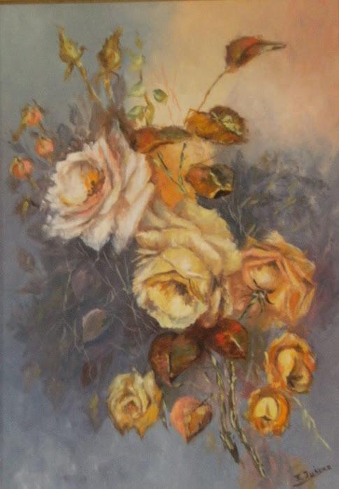 BODEGON. Rosas amarillas
