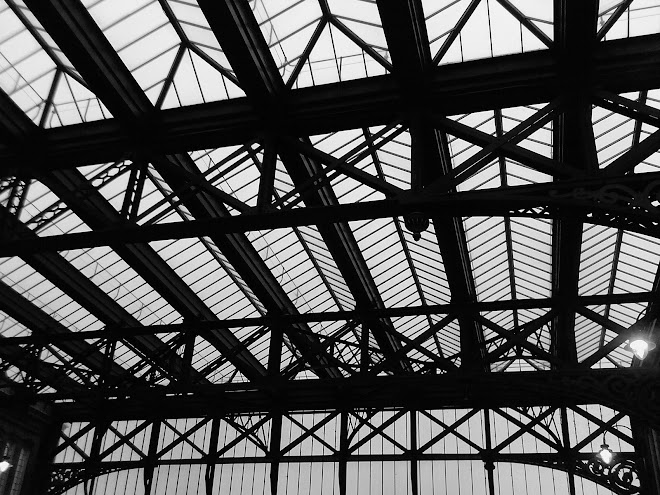 BOURNEMOUTH STATION ROOF ON A NOVEMBER AFTERNOON