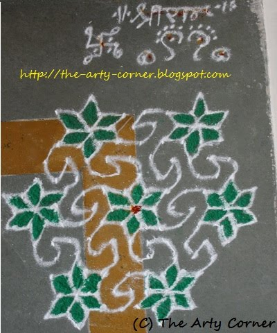 Simple Rangoli Design With Dots. Labels: Dots Rangoli, South Indian Rangoli