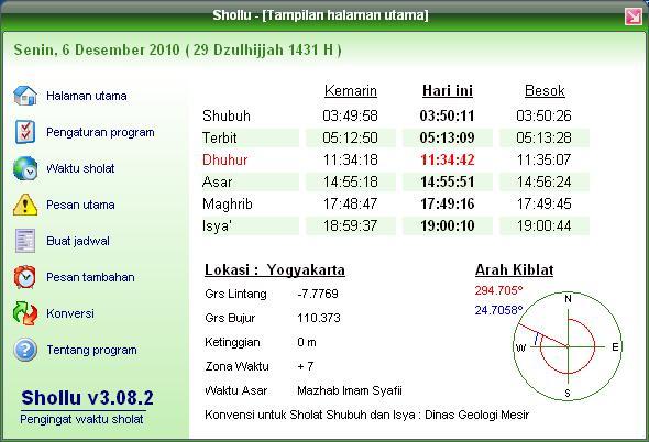 Image Result For Jadwal Sholat Atau
