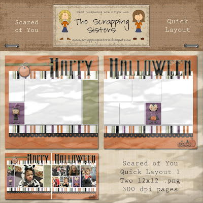Scared of You Quick Layouts by Scrapping Sisters _ScrapSis_SY_QuickLayout1Preview