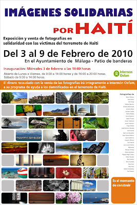 Imagenes solidarias por Haití, exposición en Málaga.