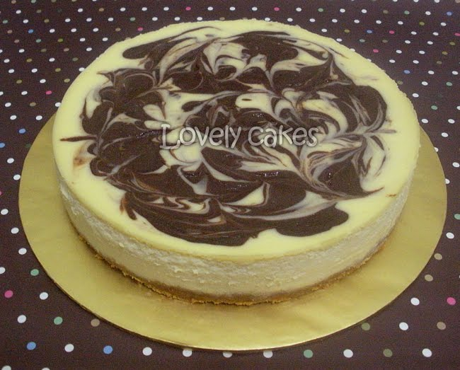 Marble Cheesecake (Size 8 inch)