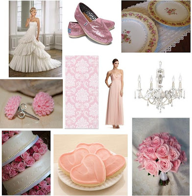 Pink Hibiscus Earrings Damask Wedding Stationery Chiffon Bridesmaid 39s Gown