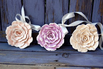 Shabby Chic Roses to hang
