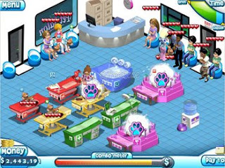 Playing Game Paradise Pet Salon