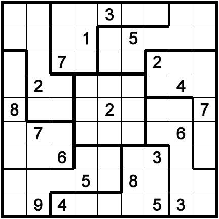 Stupendous image throughout irregular sudoku printable