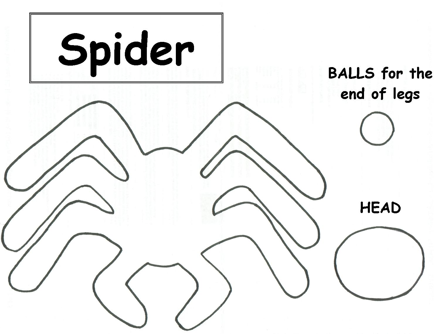 It is an image of Gutsy Spider Template Printable
