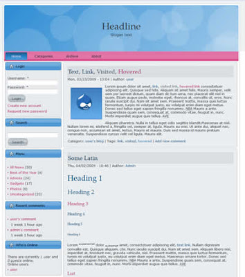 two column drupal theme