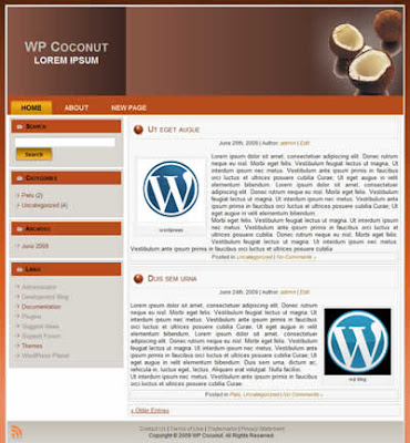 two column wordpress theme