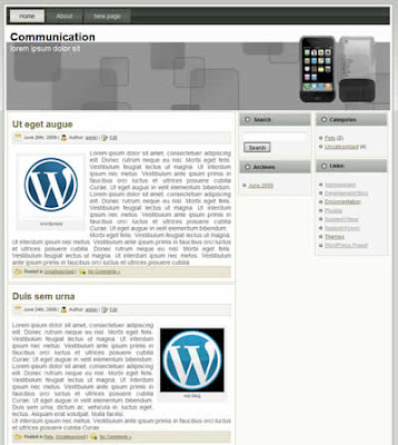 free wordpress communication theme