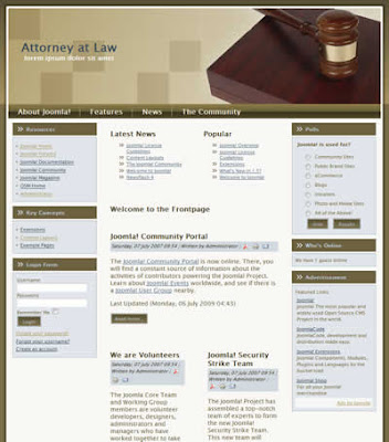 joomla lawyer office template