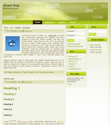 drupal blog theme