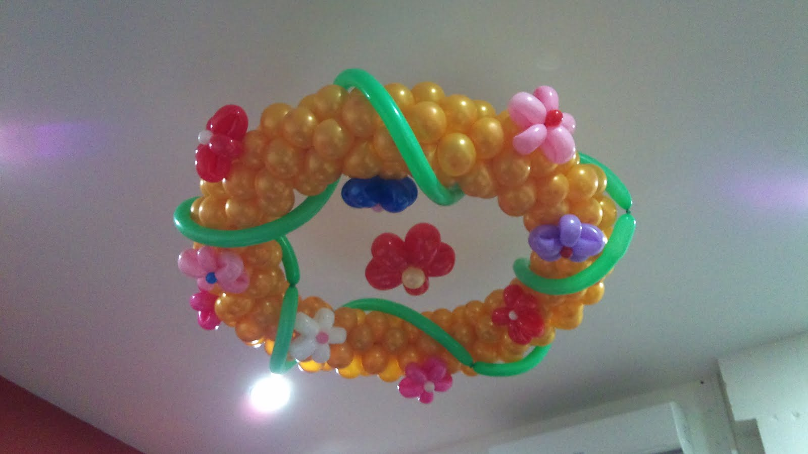 Balloon decorations for weddings birthday parties for Balloon decoration for ceiling