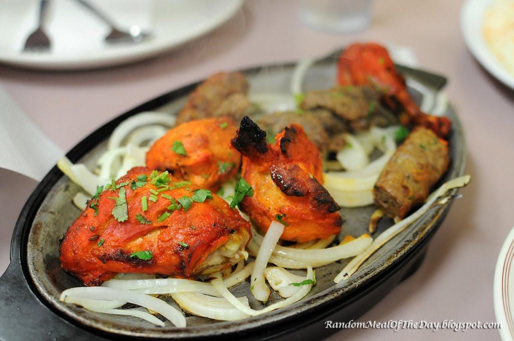 Random meal of the day al noor tandoori mix plate for Al noor indian cuisine
