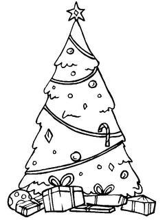 Desenhos de Natal para Colorir - imagens para colorir de arvore de natal