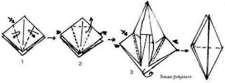 forma basica pajaro origami