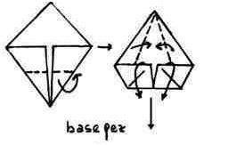 forma basica pez origami