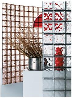 paredes con bloques de cristal