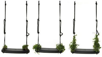 un columpio para decorar un jardin, un porche o una terraza