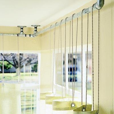idea para ganar luminosidad y decorar una ventana