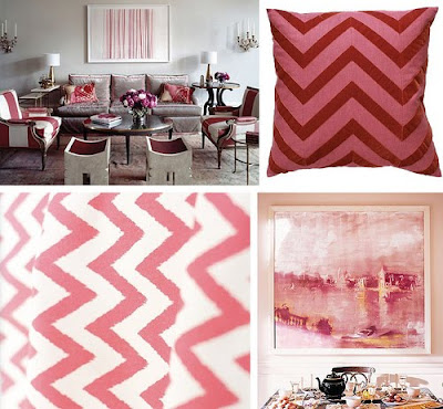 idea para decorar con rosa, blanco y gris