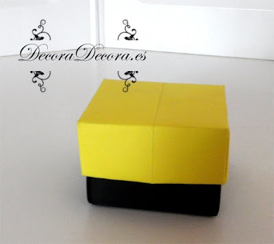 como se hace una caja con papiroflexia
