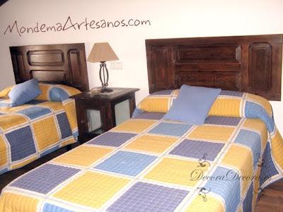 Cabeceros de cama reciclando ventanas decora decora for Reciclar una cama de madera