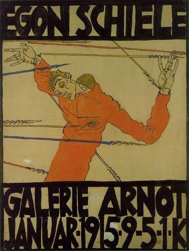 Egon Schiele, autoritratto come San Sebastiano, galleria Arnot