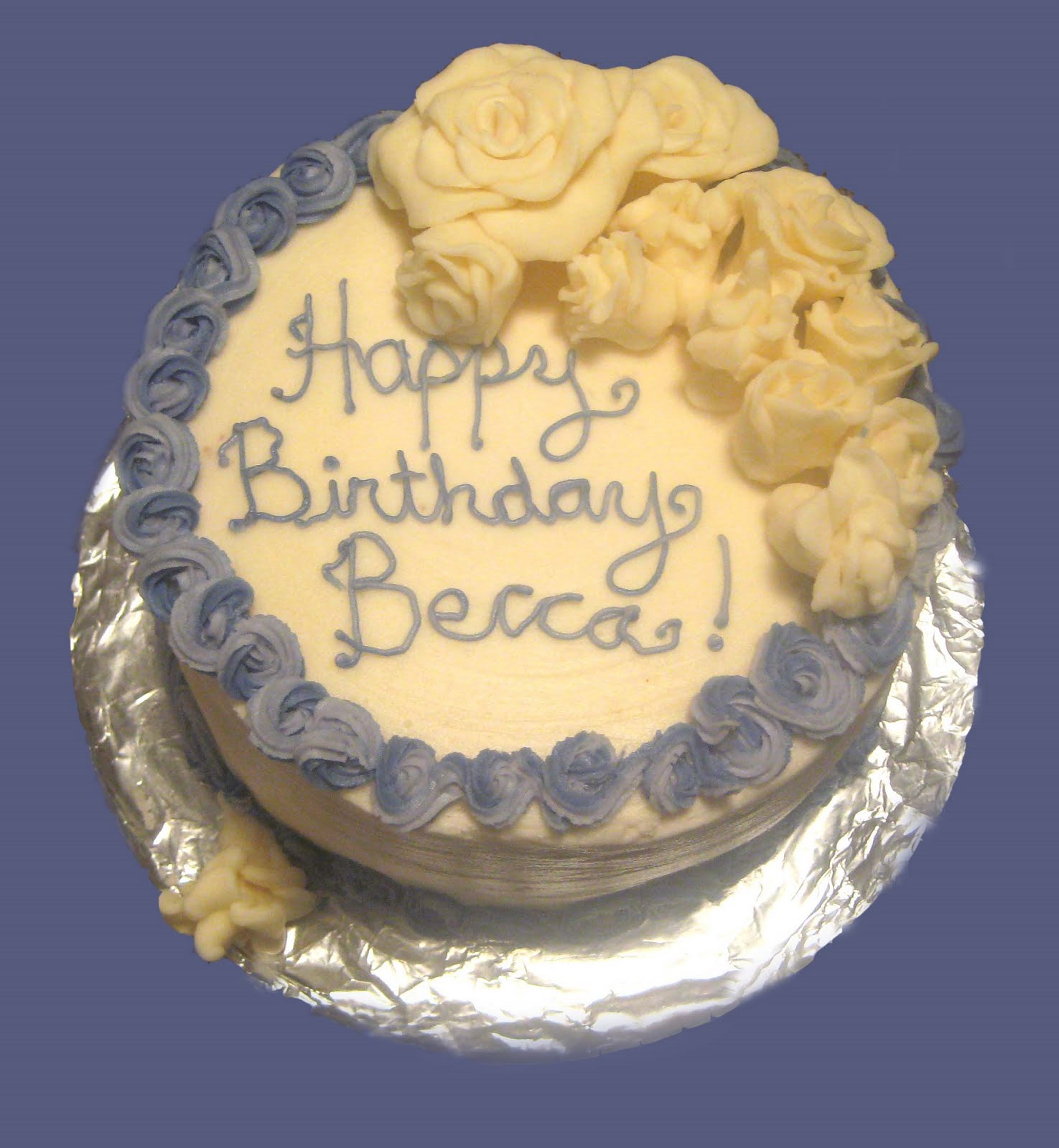 Happy Birthday Becca Cake