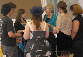 Teens with Peggy King Anderson